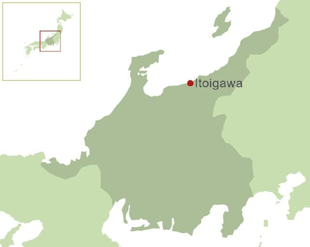 糸魚川の地図