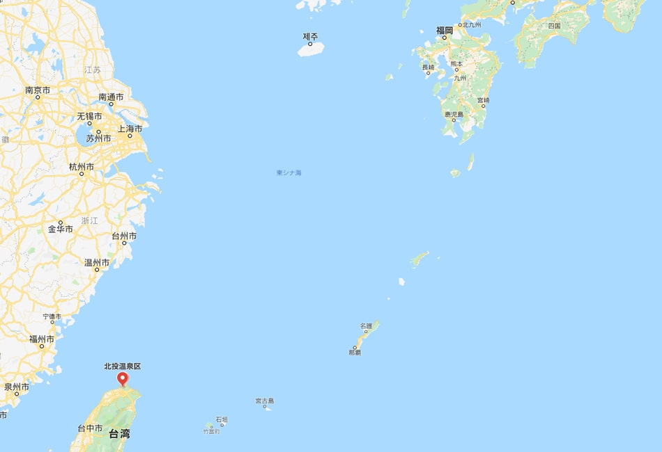 地図|台湾の北投温泉